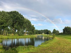 After the rain at GreenEagle PEO 2017 Tree Rainbow Beauty In Nature Nature Scenics Tranquil Scene Water Double Rainbow Tranquility Green Color Idyllic No People Day Sky Cloud - Sky Outdoors Growth Grass Architecture