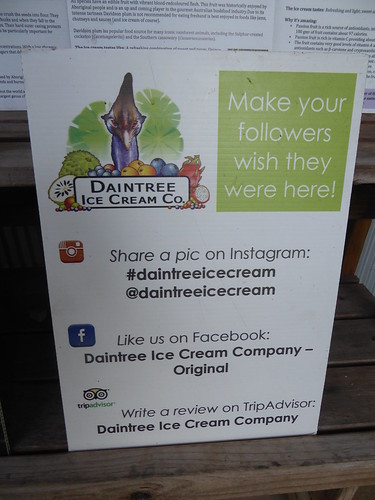 Signs and information, Daintree Ice Cream Company