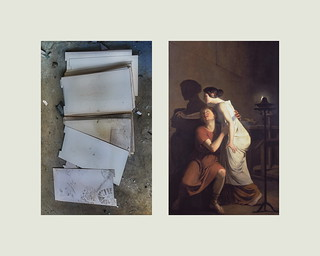 Paper found at the abandoned Concrete Plant / Invention of the Art of Drawing, by Joseph-Benoît Suvée - Project Started 2013