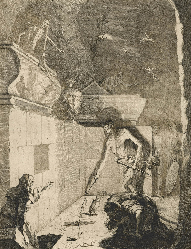 Gabriel Ehinger - The Witch of Endor, 1675