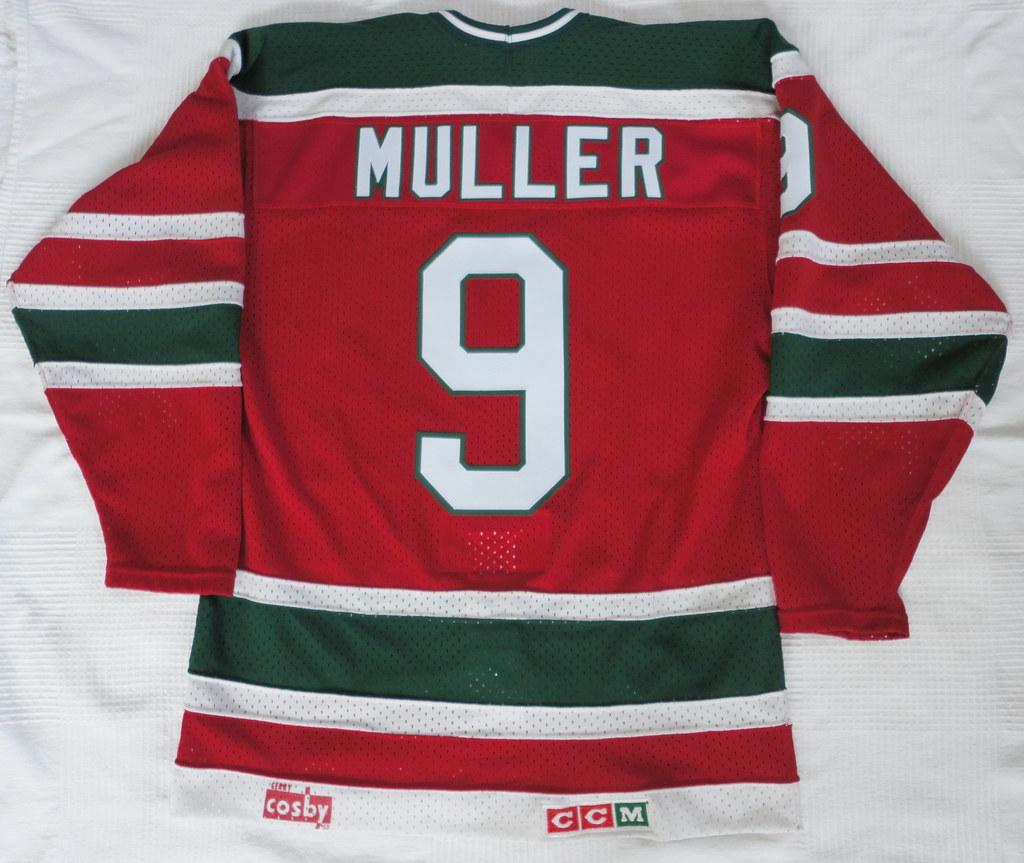 1985-86 Kirk Muller New Jersey Devils Away Jersey Back