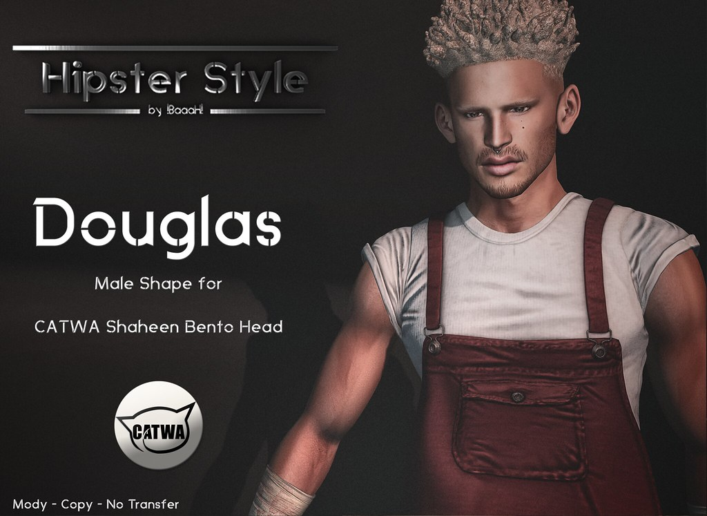 [Hipster Style] Douglas Male Shape for CATWA Shaheen Bento Head - SecondLifeHub.com