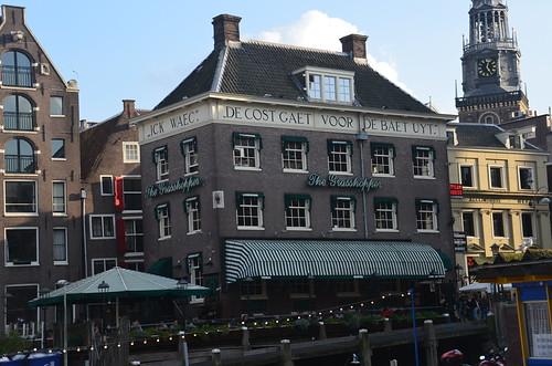 Malerisches Restaurant in Amsterdam.