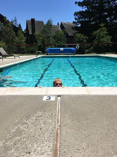 At the Pool with Grandpa Rick