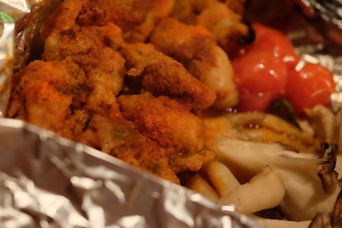 大山地鶏の激辛ホイル焼き