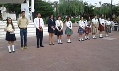 Alcalde de Chone participó de festival intercolegial de oratoria