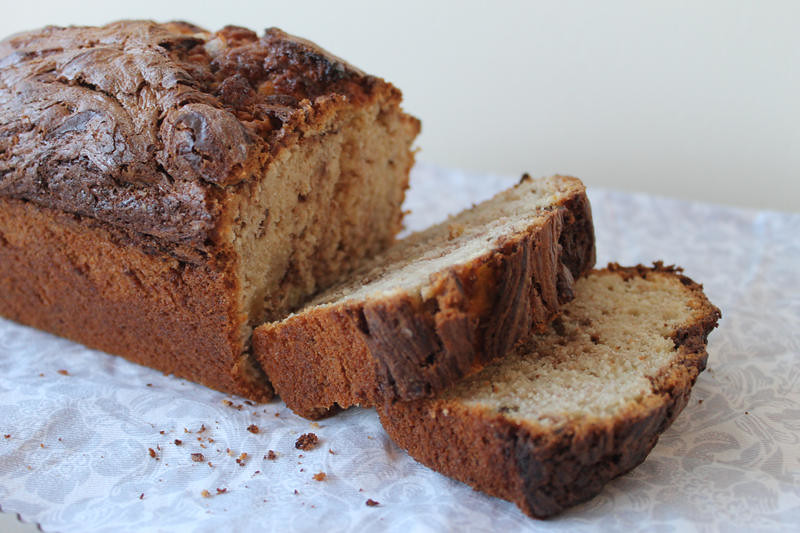 Nutella and banana loaf recipe lifestyle blogger UK