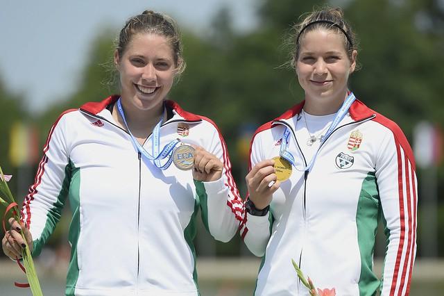 Kajak-kenu Eb - Aranyérmes a női kenu kettes 500 méteren