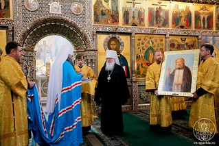 Литургия в Иверском монастыре 450