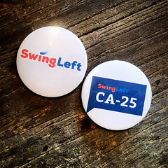 Swing Left California's 25th District Buttons