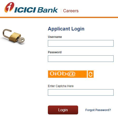 ICICI Bank PO Application