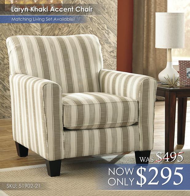 Laryn Khaki Accent Chair 51902-21