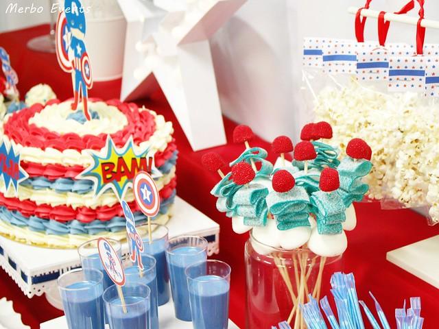 Mesa dulce Cumpleaños Capitán Amércia Merbo Events