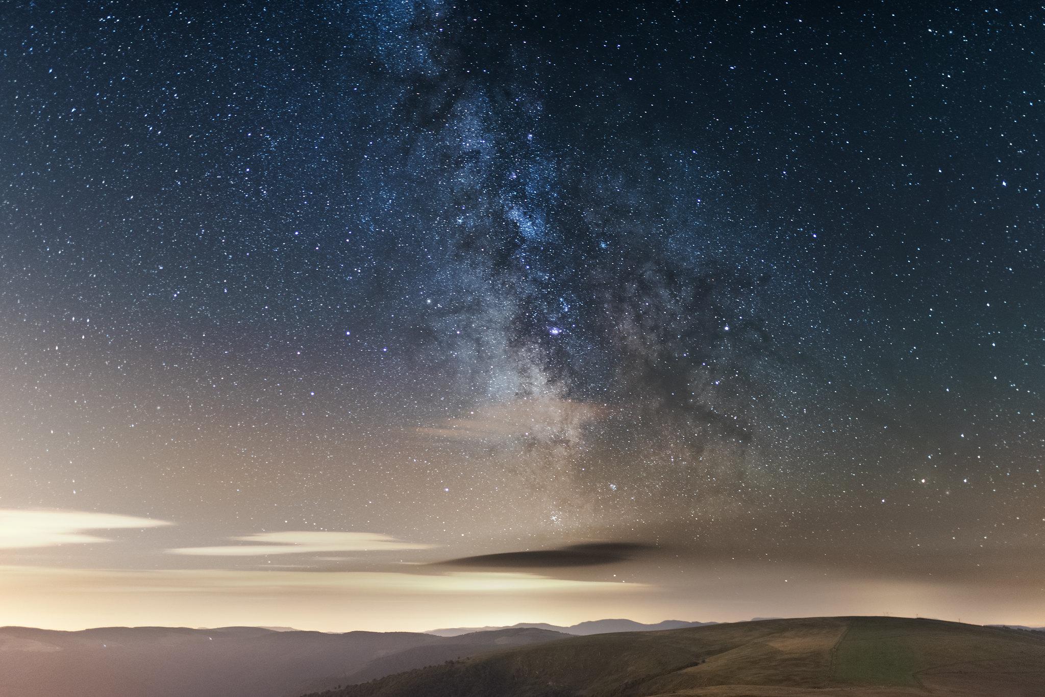 Au sommet des Vosges, la voie lactée