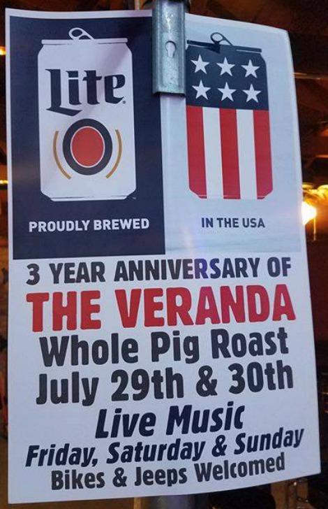 3 Year Anniversary Veranda 7-28-17