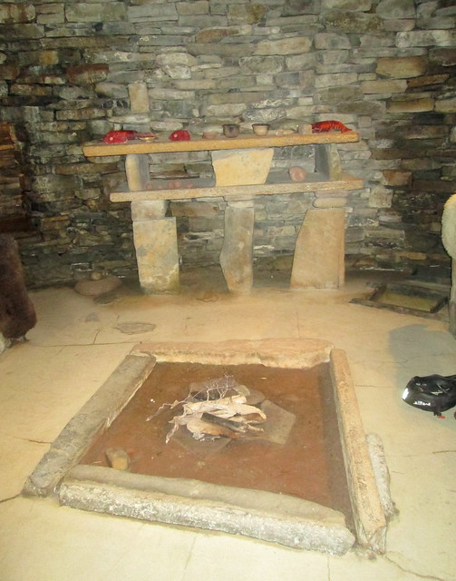 Skara Brae Mock Up Hearth and Dresser
