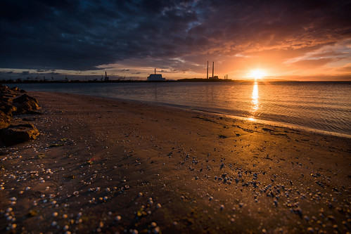dublin sunrise sandymount sea beach ireland sky nikon d5500
