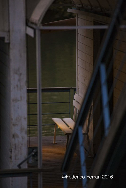panchina sul Barcone del Tevere