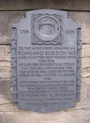 Photo of Rowland Burdon and Rowland Burdon bronze plaque