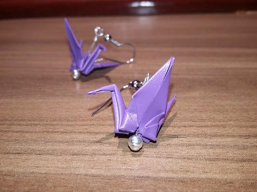 ECOGAMI - mini Tsuru - Brinco com gancho