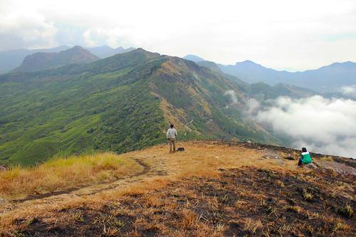 view chokramudi munnar kerala tea estate garden hiker break rest
