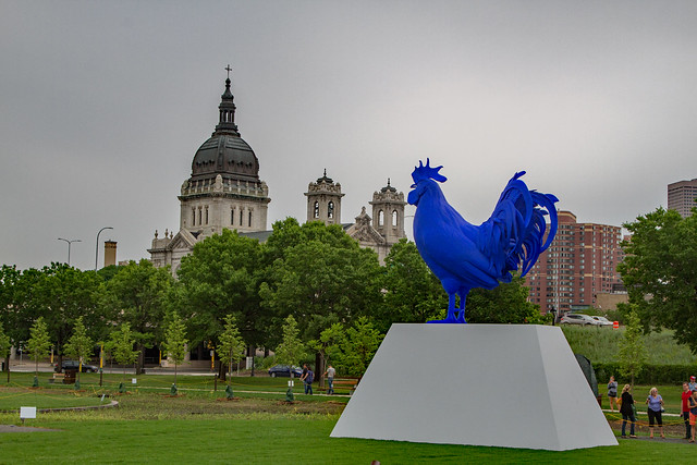 Big Blue Rooster