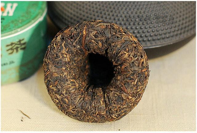 Free Shipping 2003 XiaGuan JiaJi Grade Tuo Bowl Green Boxed 100g * 5 = 500g YunNan MengHai Organic Pu'er Raw Tea Weight Loss Slim Beauty Sheng Cha