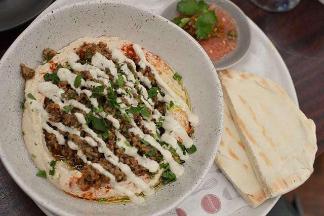 Jerusalem Hummus and Beef Dish