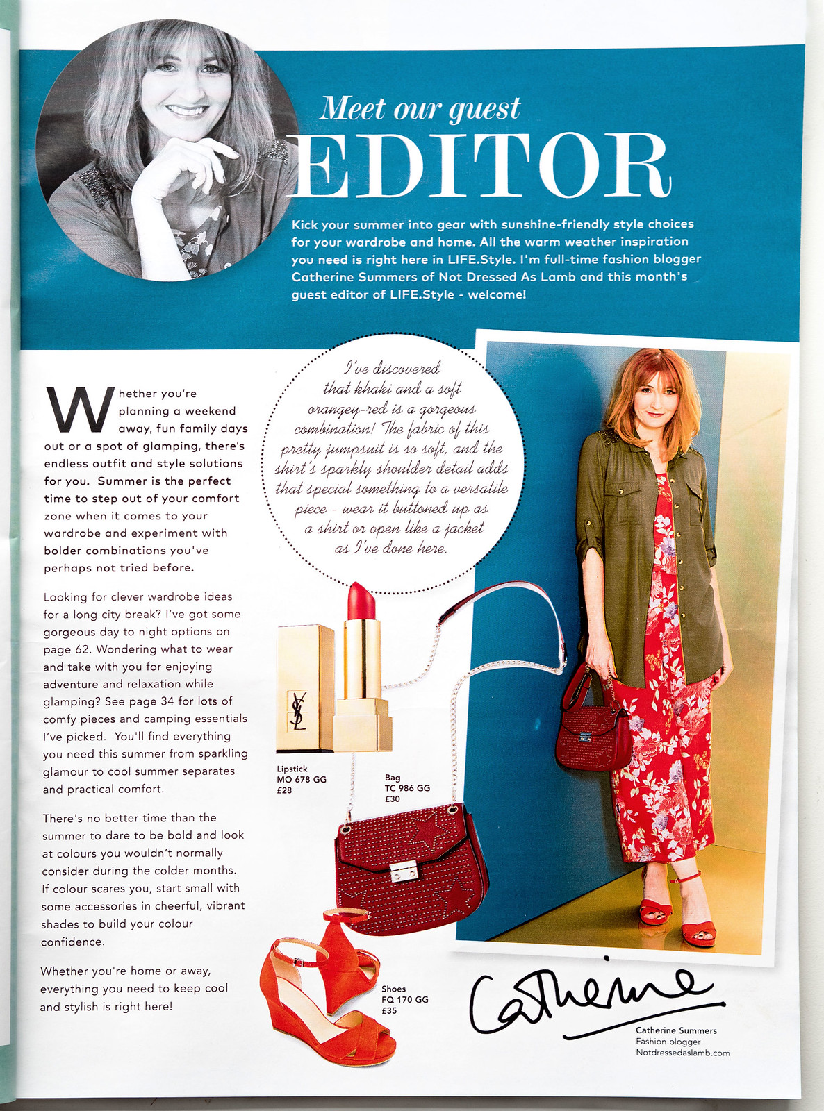 JD Williams LIFE.Style monthly magalogue | Guest editor Catherine Summers, Not Dressed As Lamb