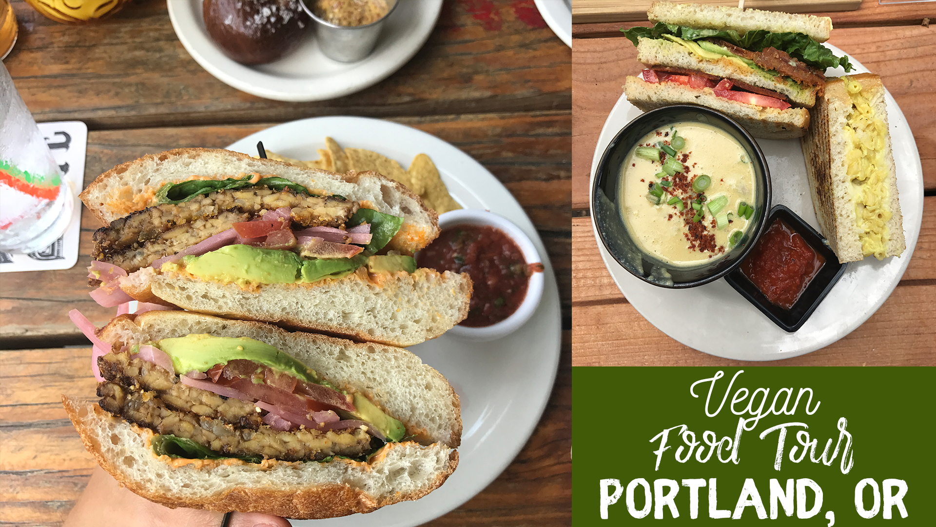 Portland Vegan Food Tour 2017 #portland #vegan sweetsimplevegan.com