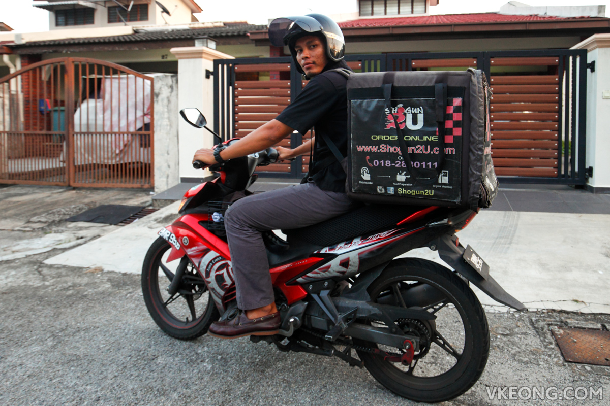 Shogun2u food delivery rider