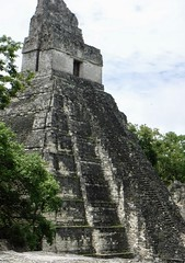 Tikal Temple 1 Side Angle