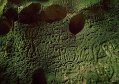 Petroglyphs carved in a cave, Malampa Province, Malekula Island, Vanuatu