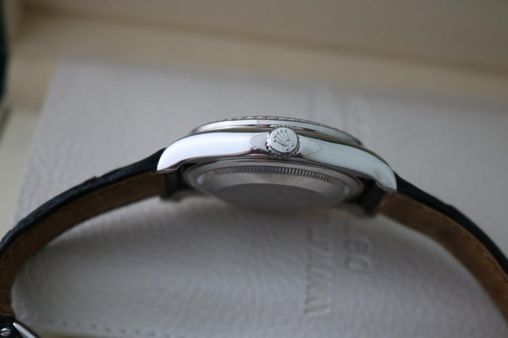 Đồng hồ rolex datejust 116139 – dây da – vàng trắng 18k – size 36mm