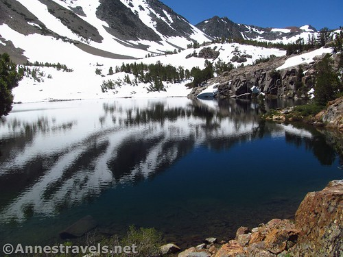 Cooney Lake is very popular with anglers. Virginia Lakes Trail, Hoover Wilderness, California