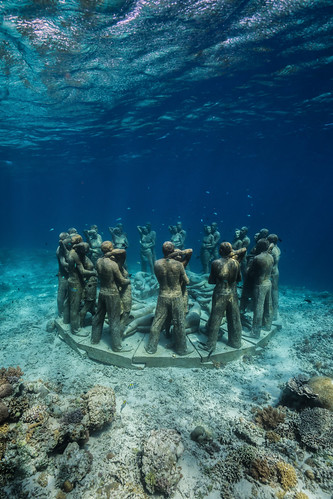Nest: an Underwater Sculpture by Jason deCaires Taylor Rises from the Seabed in Indonesia