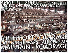 The Effort, Outrage, Late Night Wars, All Star Me, Maintain, Roadrage @ URI Coffee House