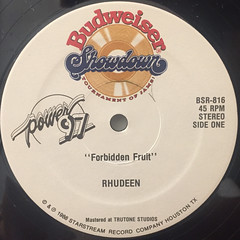 RHUDEEN:FORBIDDEN FRUIT(LABEL SIDE-A)