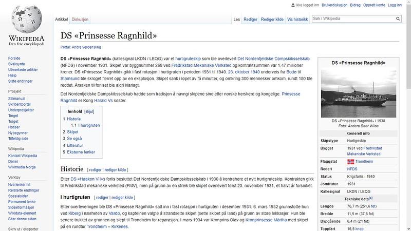 mer om forlis wiki