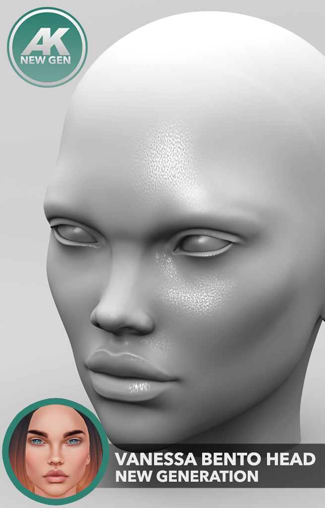 [AK] Vanessa Bento Mesh Head NEW GEN - SecondLifeHub.com
