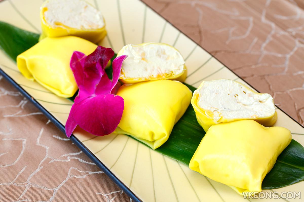 Chilled Musang King Durian Pancake
