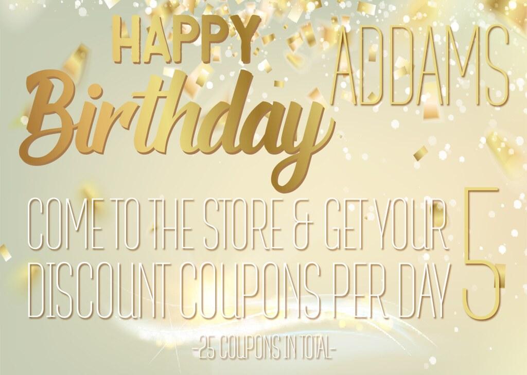 ADDAMS - Birthday Coupons day! - SecondLifeHub.com
