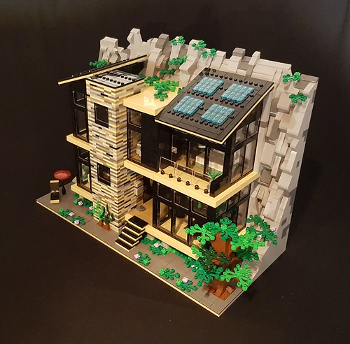 Green Rock House MOC exterior I