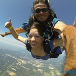 First time tandem skydiving