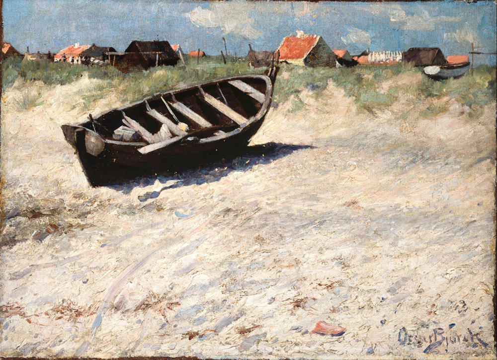 Boat at Skagen's South Beach by Oscar Gustaf Bjorck, 1884