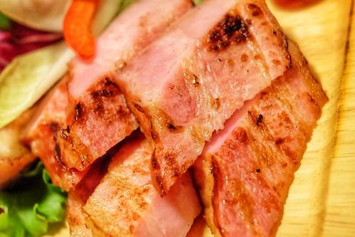 厚切りベーコン 炭火焼きおまかせ5点盛 肉十八番屋 虎ノ門店