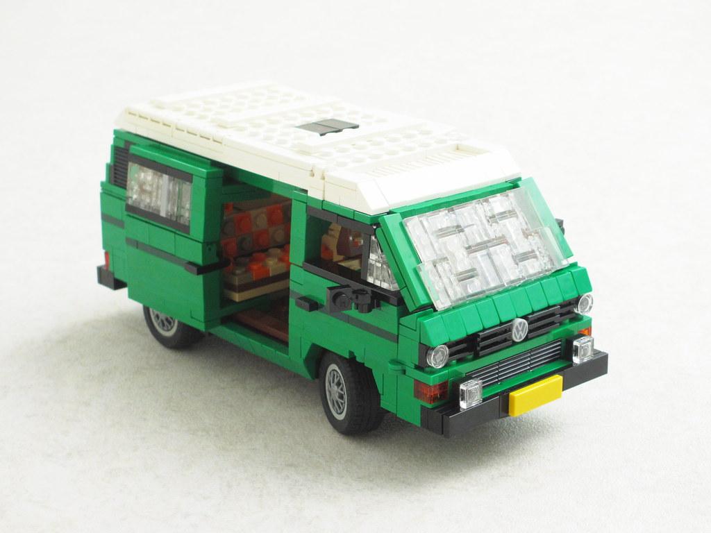 Lego Volkswagen Moc T3 Westfalia Camper Van Zusammengebaut
