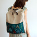 Teal laptop backpack by Mundo Flo