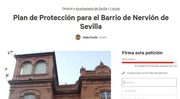 firmas proteger patrimonio Nervión