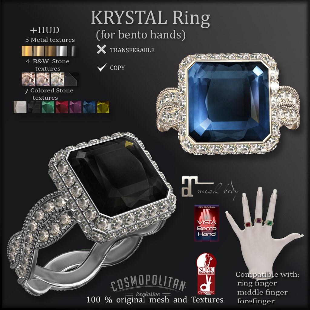 *AvaWay* KRYSTAL Ring (COSMOPOLITAN)